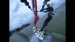 preview picture of video 'Ammersee windsurfing 2014-10'