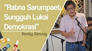 Rocky Gerung: Bila Ratna Sarumpaet Berbohong, Sungguh Melukai Demokrasi