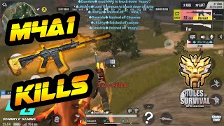 M4A1 Kills Montage #3 | Rules of Survival | Mobile Gameplay