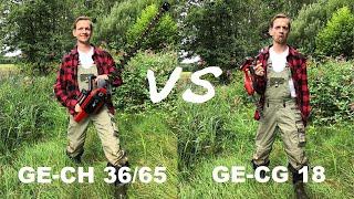 Einhell GE-CH 36/65 gegen GE-CG 18 Heckenscherenvergleich