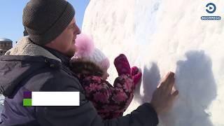 Житель Пензенской области слепил семиметрового снеговика
