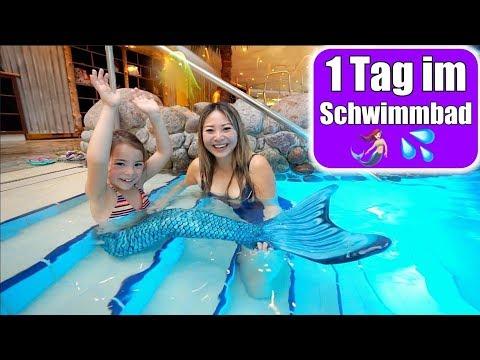 Clara wird Meerjungfrau 🧜🏻♀️ Wasserrutsche! 1 Tag im Schwimmbad | Familienleben VLOG | Mamiseelen