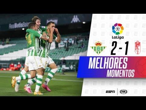 NOS ÚLTIMOS MINUTOS! Melhores momentos de Real Betis 2 x 1 Granada em LaLiga