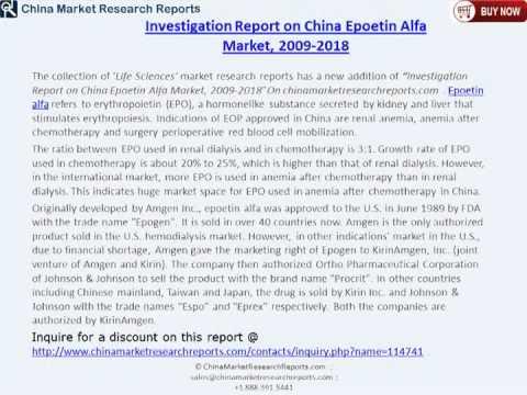 China Epoetin Alfa Market 2018 видео