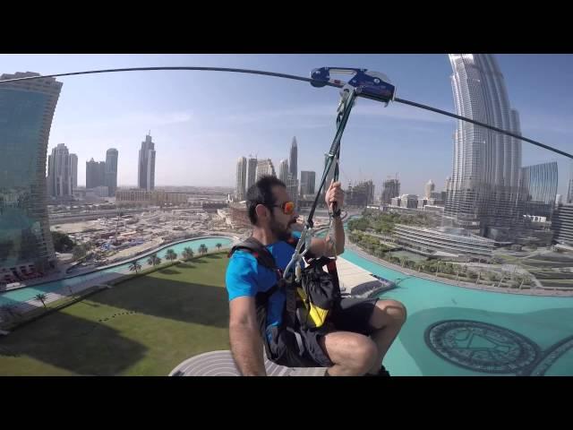 sportourism.id - Ekstrem-Zipline-di-WI-Tower-Dubai