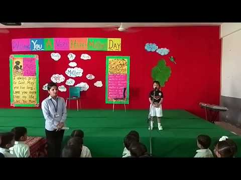 SPECIAL ASSEMBLY ON MOTHERS' DAY BY KINDERGARTEN