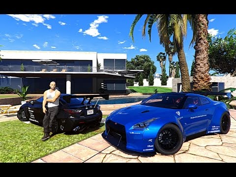 GTA V | VIN DIESEL MANISON AND CARS COLLECTION IN GTA 5