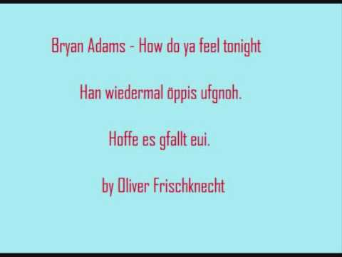 Bryan Adams - How do ya feel tonight (Cover by Oliver Frischknecht) + Lyrics