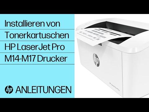 Installieren von Tonerkartuschen bei HP LaserJet Pro M14-M17 Druckern