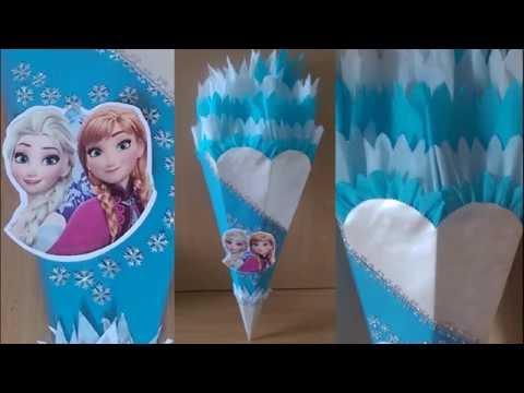 Frozen Elsa Schultüte selber basteln