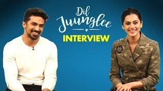 Taapsee Pannu and Saqib Saleem Interview for Dil Juunglee Movie | SpotboyE