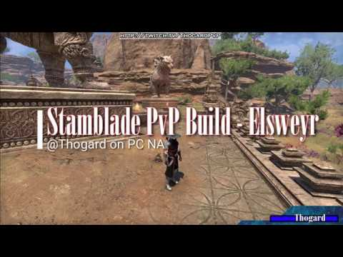 VID] Stamblade PvP Build - Elsweyr - w/ PvP clips of performance