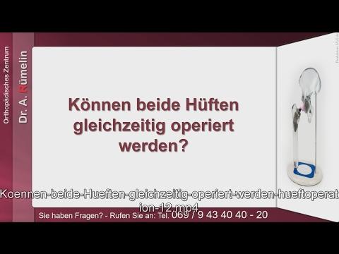 Eine Reihe von Übungen mit Hip Bursitis