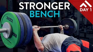 STRONGER POWER LIFTS - Bench, Deadlift, Squat | WEEK IN THE POWER PROGRAM Day 1