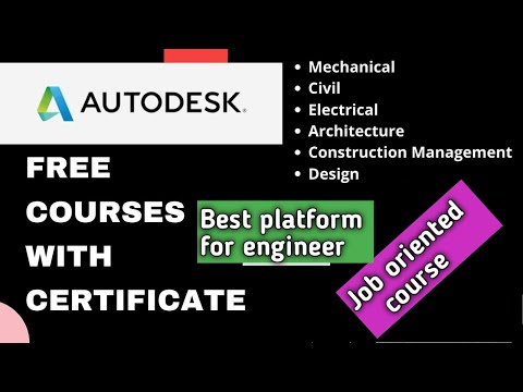 Free online Autodesk academy courses with certificates | Many Free AutoCAD Courses | Hindi