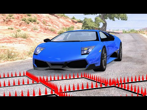 Massive Spike Strip Pileup Crashes #58 – BeamNG Drive | CrashBoomPunk