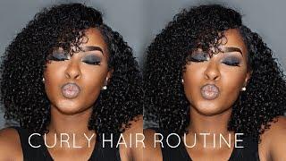 BEST NATURAL LOOKING WEAVE! SUMMER CURLY HAIR ROUTINE Ft. Peerless Virgin Hair | Pitts Twins
