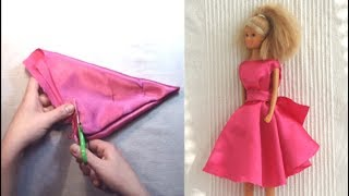NO Sew Barbie Doll Dress With Pattern (#2)