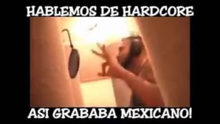 Mexicano 777 Grabando pacto de sangre en el estudio