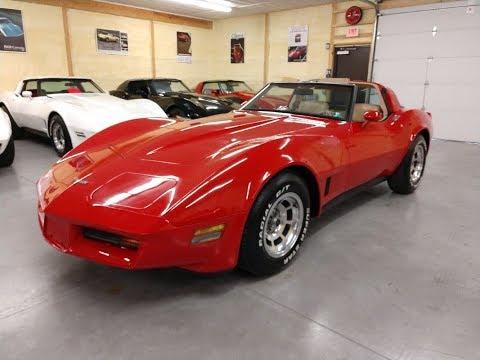 1980 Red Corvette T-Top Video
