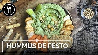 Hummus de pesto, un aperitivo fácil, rápido y sabroso para el futuro