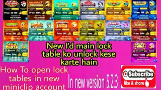 How to open all unlock tables in 8 ball pool in new account