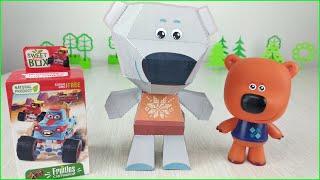 БУМАЖНЫЙ Тучка Великан и Крутые ТАЧКИ Дисней! Мультики с игрушками Ми ми мишки для детей