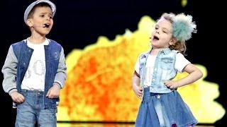 Świetny występ młodej, śpiewającej pary [ Mali Giganci ]