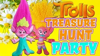 Trolls Poppy and Disney Princess Belle Party Treasure Hunt! Featuring DJ Sookie and Princess Tiana!