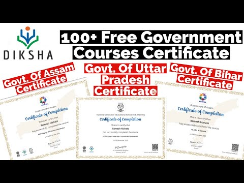 Diksha App 100+ Free Government Courses With Free Certificate ...