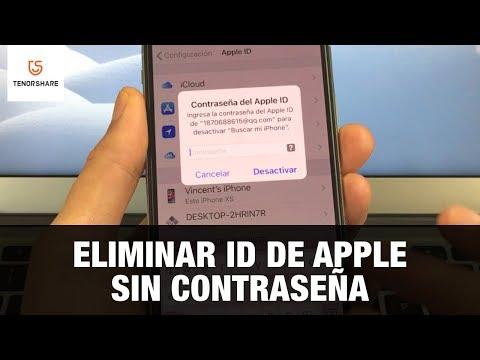 eliminar apple id/cuenta iCloud sin contraseña
