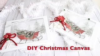 HOW TO MAKE A CHRISTMAS CANVAS | SHABBY CHIC CHRISTMAS SIGN | DIY SHABBY CHIC SIGN | CHRISTMAS