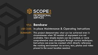 Scope AR Use Case: Bandsaw