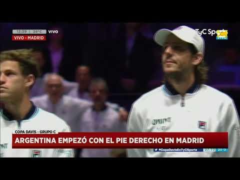 Copa Davis: Argentina empezó con el pie derecho en Madrid contra Chile - Hoy Nos Toca a las Diez