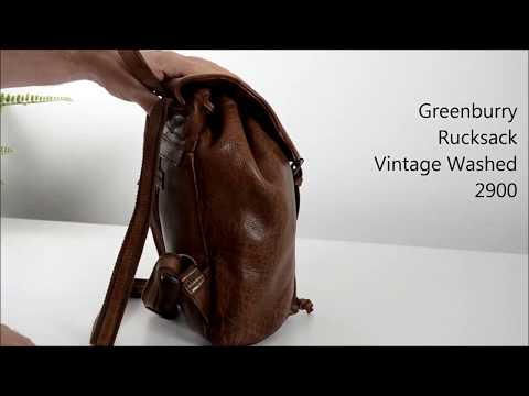 Greenburry Damen Rucksack Vintage Washed 2900