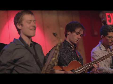 Performing with Andrew Denicola's band at Rockwood Music Hall in New York City.