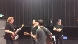 Steve Perry rehearsing with Toad the Wet Sprocket