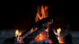 Relaxing Fireplace with Piano Music (Full HD)