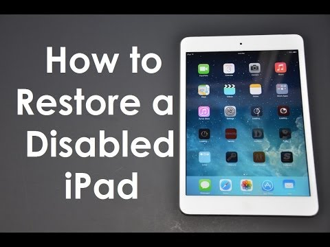 How to Fix (Forgot Passcode) Disabled iPhone / iPad iOS8 or iOS7
