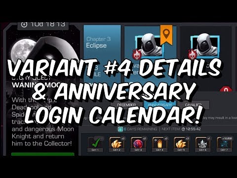 Variant #4 Announcement Details & 5th Anniversary Login Calendar - Marvel Contest of Champions