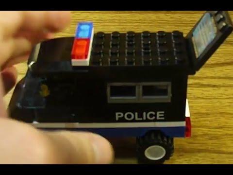 Lego совместимый конструктор Enlighten Грузовик полицейский экспорт 126. Сборка и обзор.