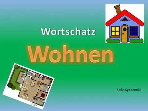Wortschatz  Wohnen Deutsch A1