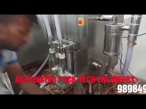 Semi Automatic Glass Bottle Milk Filling and Glass Bottle Lug Capping Machine