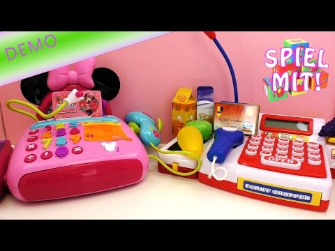 Vergleich Minnie mouse cash register VS Scannerkasse von Simba Registrierkasse zum spielen