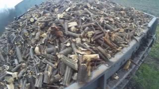 Заготовка дров, измельчитель веток снова в деле!