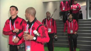 River Plate Team Arrival