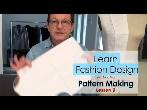 Pattern Making in Fashion Designing (Lesson 3) ~ Learn FASHION DESIGN Online ~ Best Video Classes