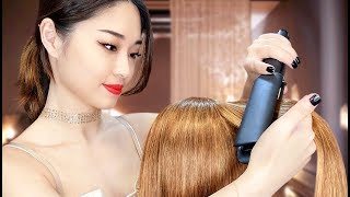 [ASMR] Relaxing Hair Straightening and Oil Treatment