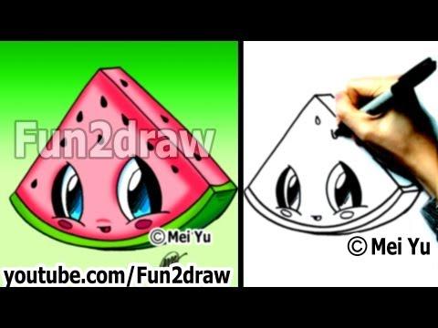 Fun2draw watermelon fun2draw stars by the funny drawers for Fun to draw cat