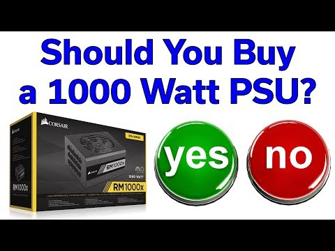 1000W Power Supply – Yes or No? – Corsair RM1000x Unboxing
